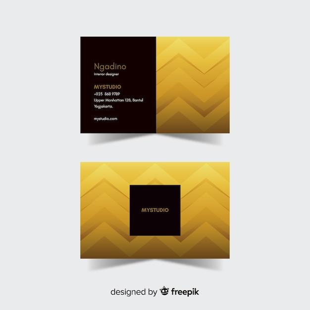 Detalhes dourados do molde do cartão Vetor grátis
