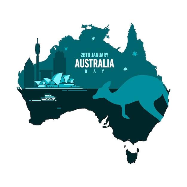 Dia da austrália em design plano Vetor Premium