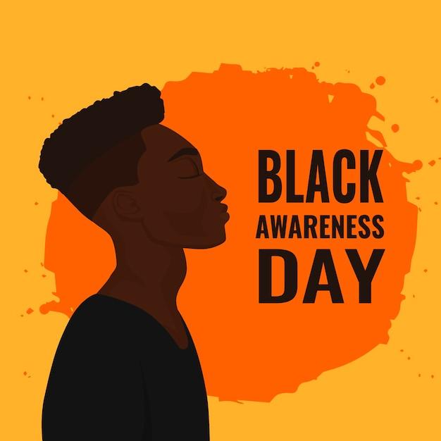 Dia da consciência negra desenhado à mão Vetor grátis