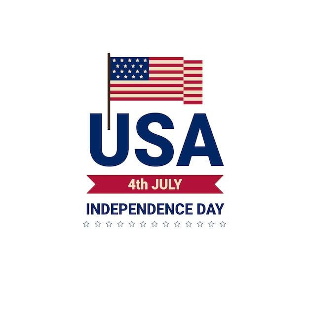 Dia da independência da bandeira dos estados unidos Vetor Premium
