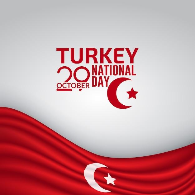 Dia da independência da turquia bandeira vector background ilustração Vetor Premium