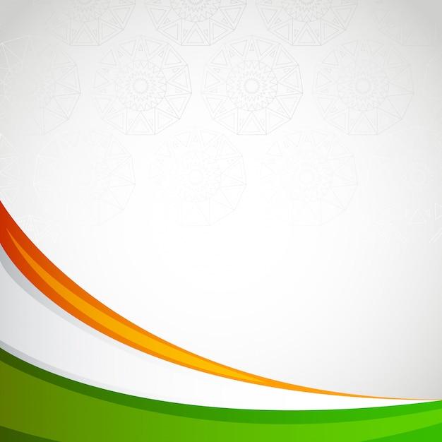 Dia da independência de cartão de quadro em branco de índia Vetor Premium