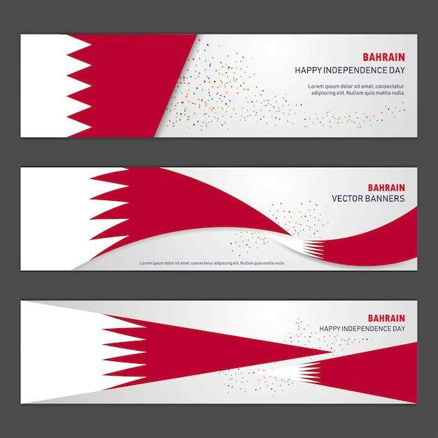 Dia da independência do bahrein Vetor grátis