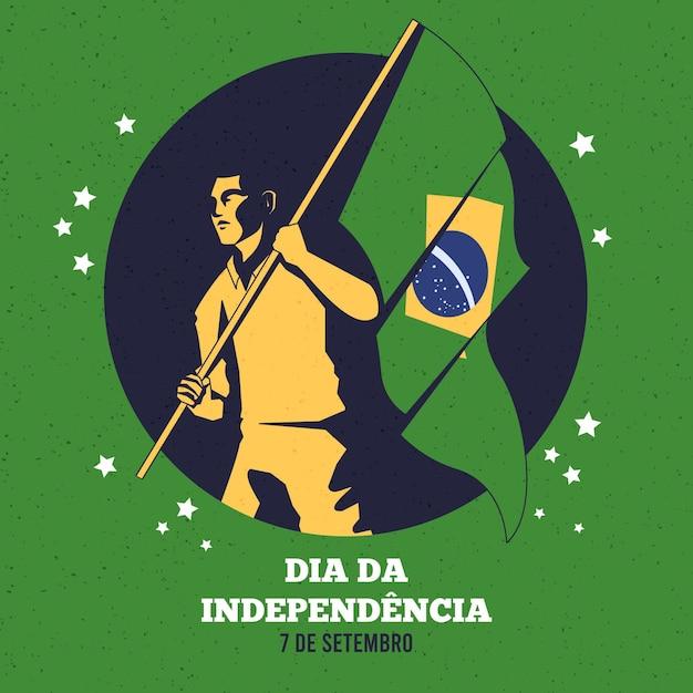 Dia da independência do brasil Vetor grátis
