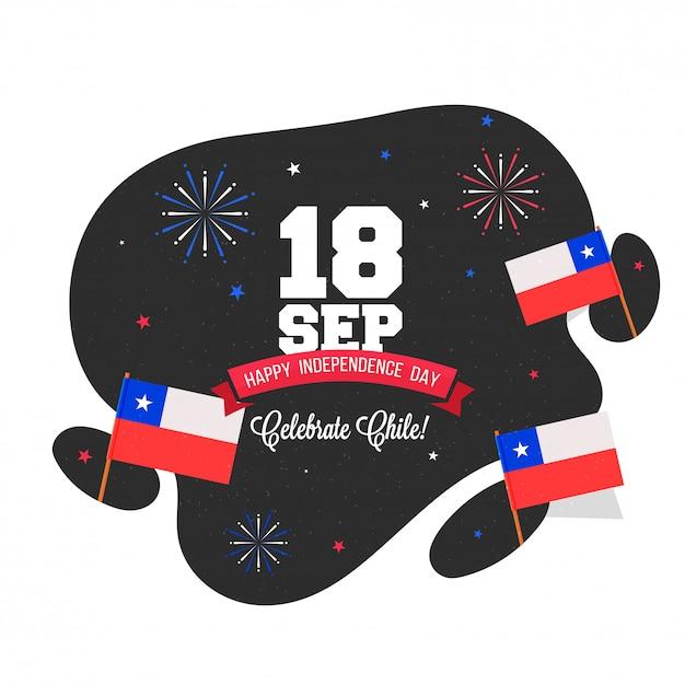 Dia da independência do chile background design Vetor Premium