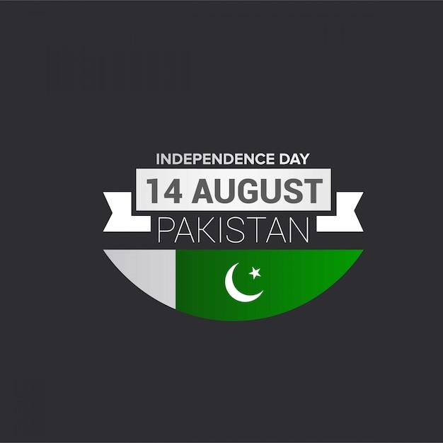 Dia da independência do paquistão Vetor grátis