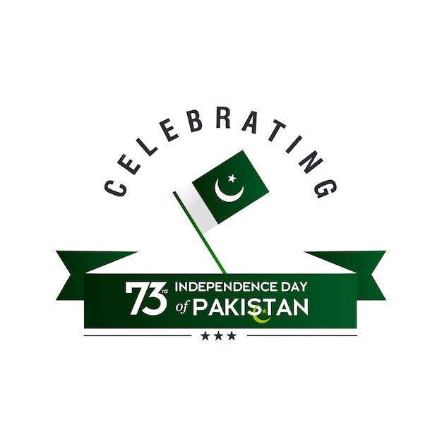 Dia da independência do paquistão Vetor Premium
