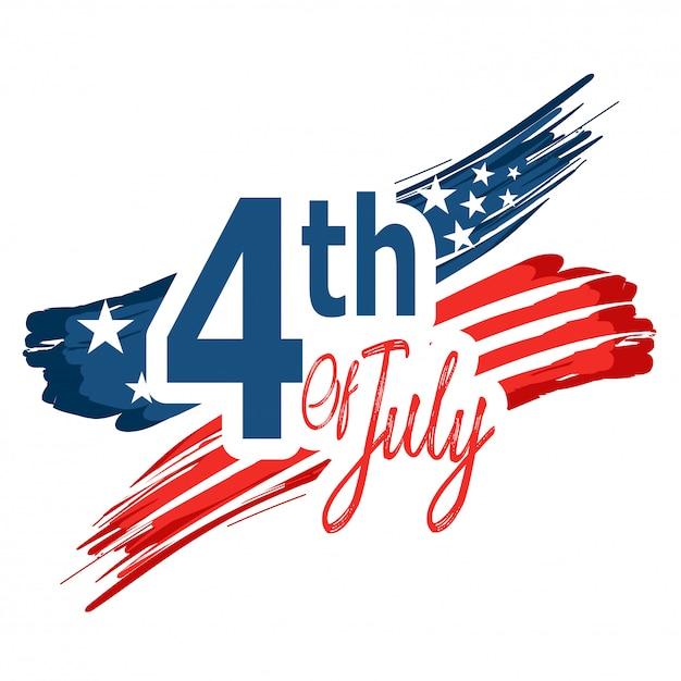 Dia da independência nos estados unidos da américa. Vetor Premium