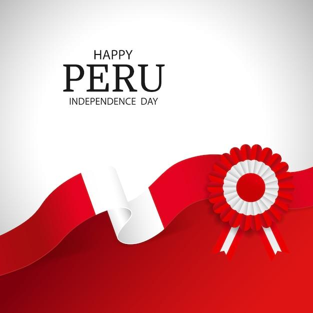 Dia da independência peru Vetor Premium