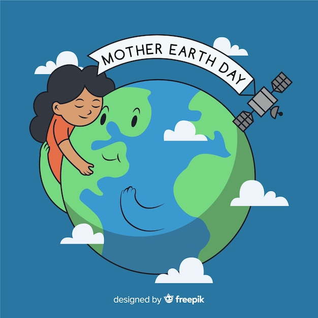 Dia da mãe terra Vetor grátis