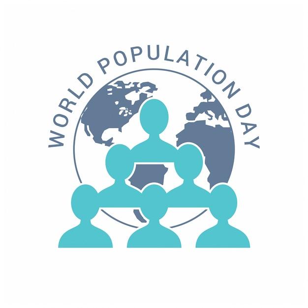 Dia da população mundial símbolos dos povos Vetor grátis