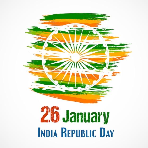 Dia da república da índia para 26 de janeiro. Vetor Premium