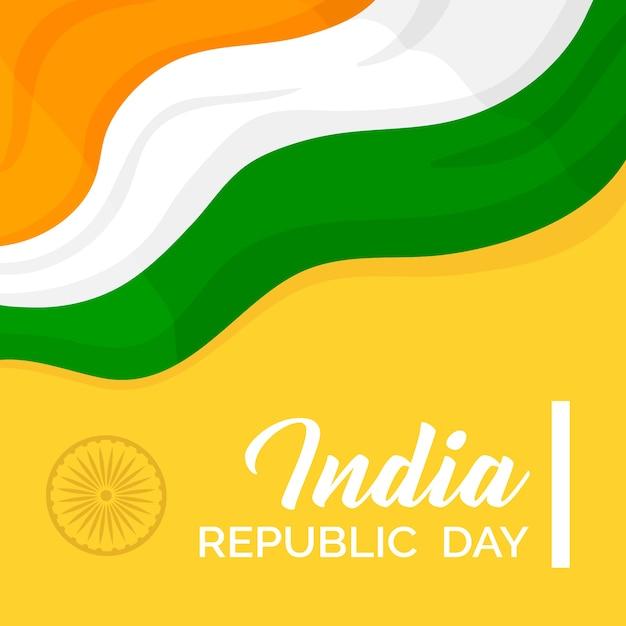 Dia da república indiana colorido Vetor grátis