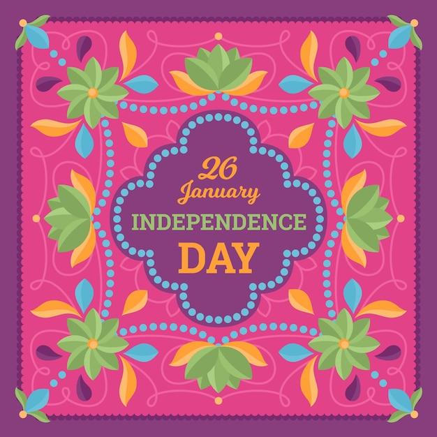Dia da república indiana de design plano Vetor grátis