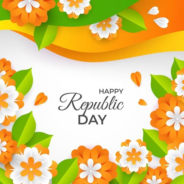 Dia da república indiana em estilo jornal Vetor grátis