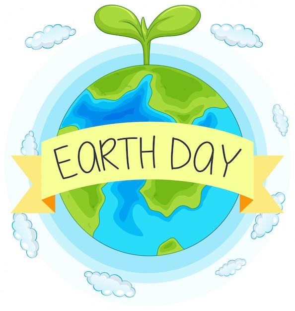 Dia da terra conceito mão ilustrações desenhadas Vetor grátis