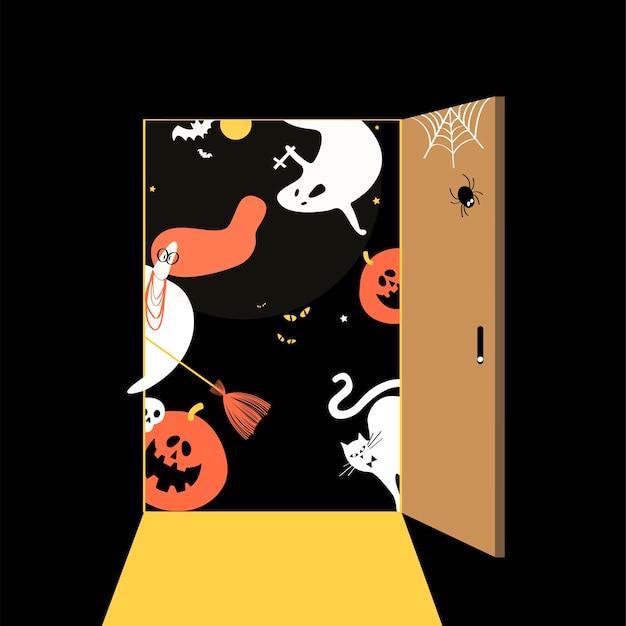 Dia das bruxas bonito conceito ilustração do dia Vetor grátis