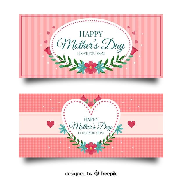 Dia das mães banner Vetor grátis