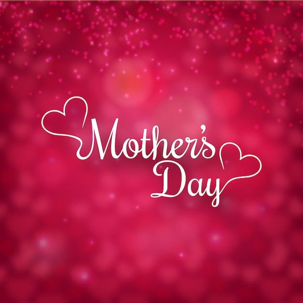 Dia das mães com fundo defocused Vetor grátis
