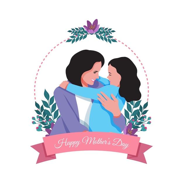 Dia das mães em design plano Vetor Premium