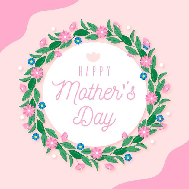 Dia das mães floral Vetor Premium