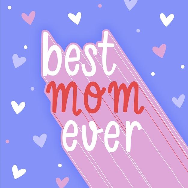 Dia das mães mão desenhada Vetor grátis