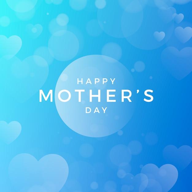 Dia das mães turva com corações Vetor grátis