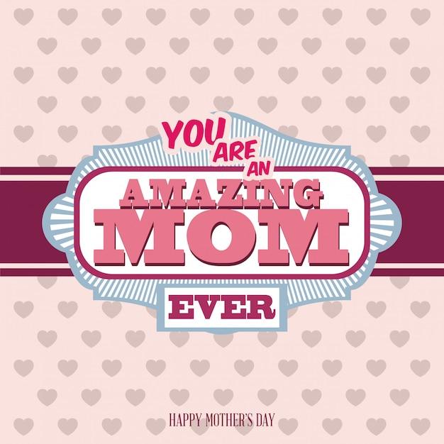Dia das mães Vetor Premium