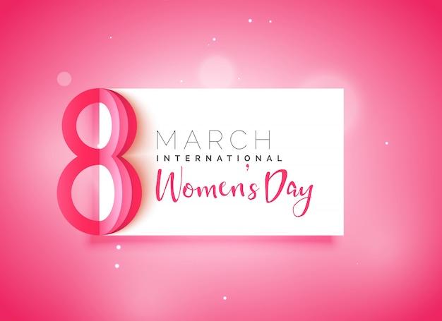 Dia das mulheres feliz fundo rosa bonito Vetor grátis