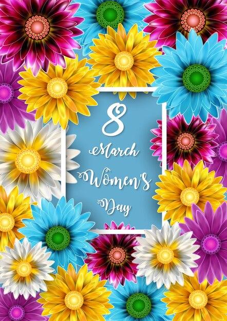 Dia das mulheres Vetor Premium