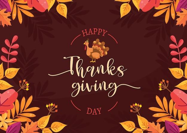 Dia de ação de graças. Vetor grátis