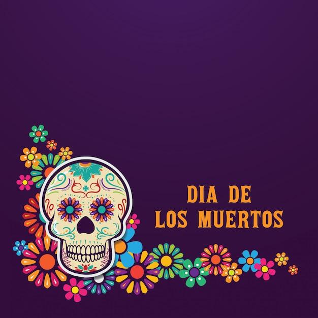 Dia de los muertos fundo Vetor Premium