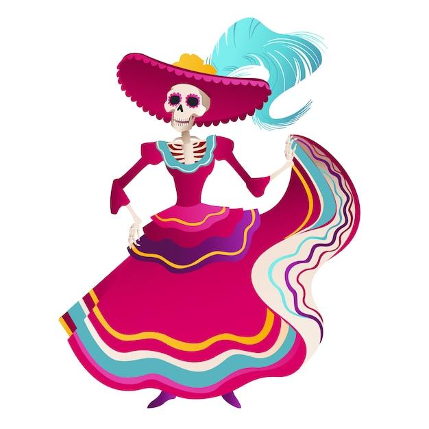 Dia de los muertos holiday party. Vetor Premium