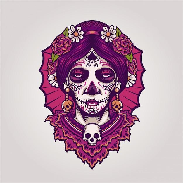 Dia de los muertos Vetor Premium