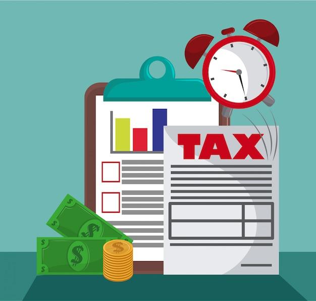 Dia de pagamento de governador de imposto Vetor Premium