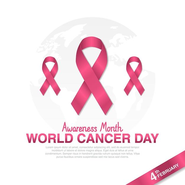 Dia do câncer de mama Vetor Premium