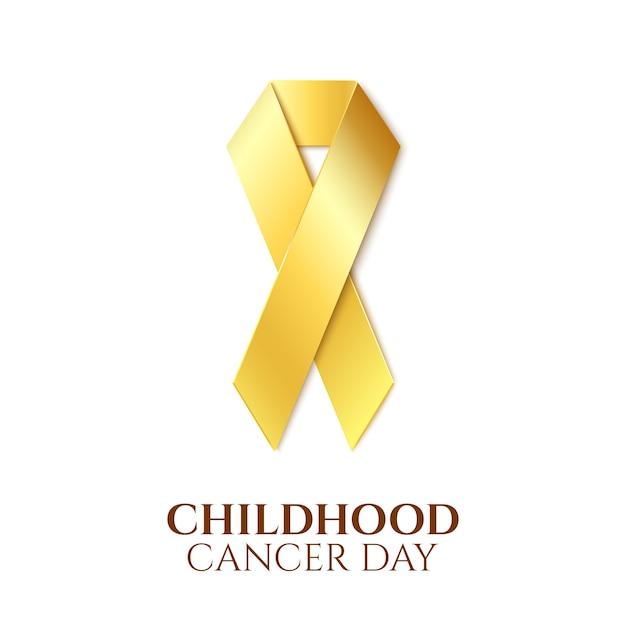 Dia do câncer infantil. Vetor Premium