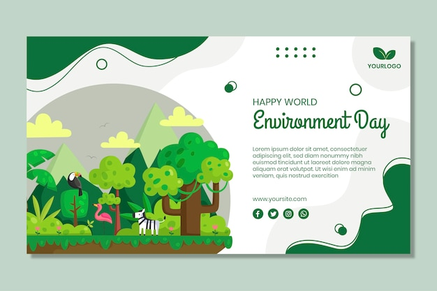 Dia do meio ambiente Vetor grátis