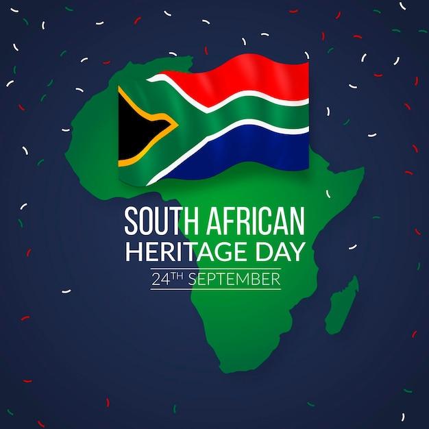 Dia do patrimônio realista na áfrica do sul Vetor grátis