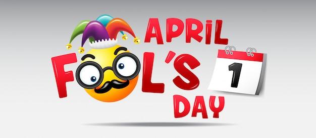 Dia do tolo de abril Vetor Premium