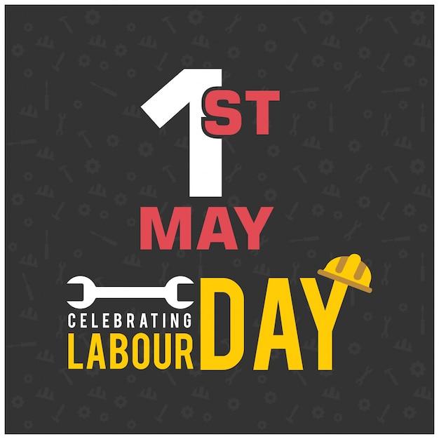 Dia do trabalhador feliz com símbolo da chave Vetor grátis