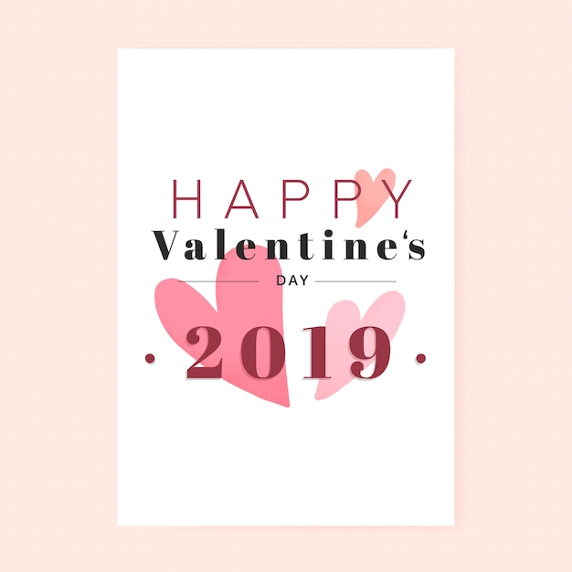 Dia dos namorados 14 de fevereiro vector Vetor grátis