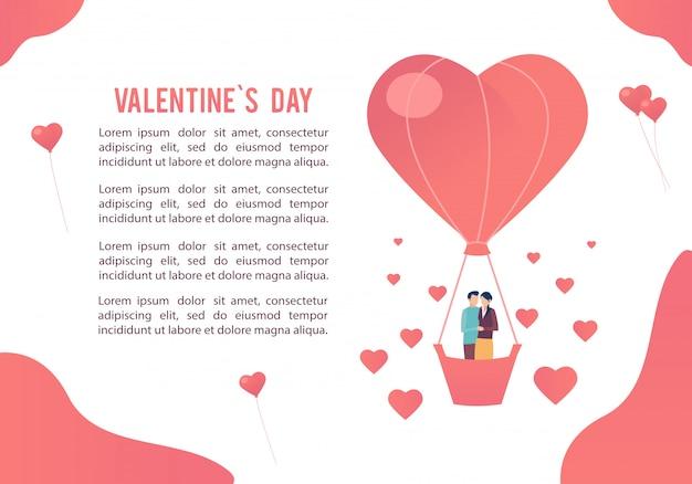 Dia dos namorados. imagem das pessoas apaixonadas Vetor Premium