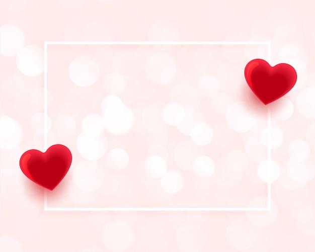 Dia dos namorados lindo quadro com espaço de texto Vetor grátis