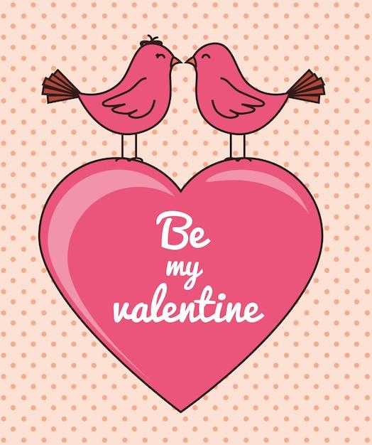 Dia dos namorados romântico Vetor Premium