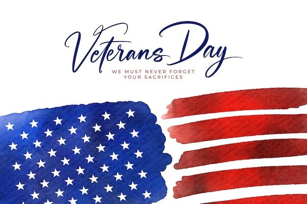 Dia dos veteranos em aquarela Vetor Premium