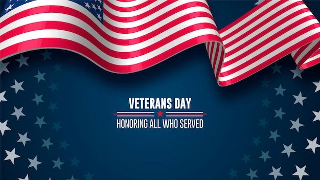 Dia dos veteranos. homenageando todos os que serviram. 11 de novembro Vetor Premium