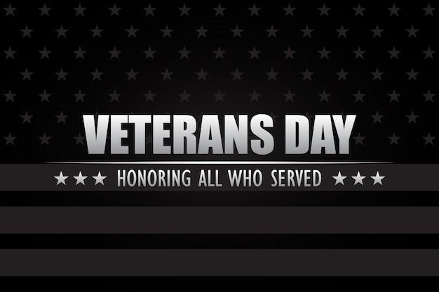 Dia dos veteranos. homenageando todos os que serviram. Vetor Premium