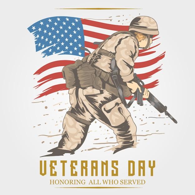 Dia dos veteranos Vetor Premium
