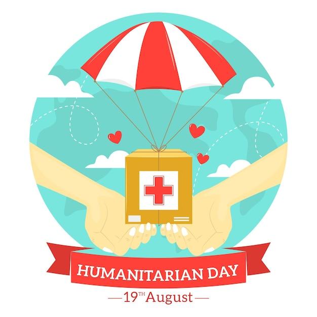Dia humanitário mundial com ajuda Vetor grátis